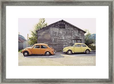 Vw's In Skagway Alaska Framed Print