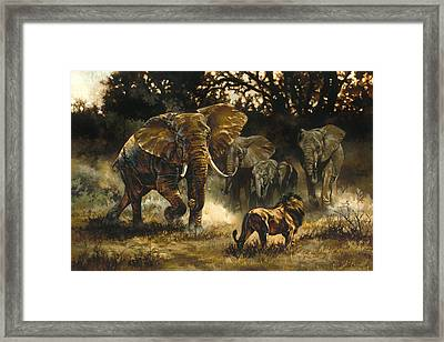 Vying For The Throne Framed Print