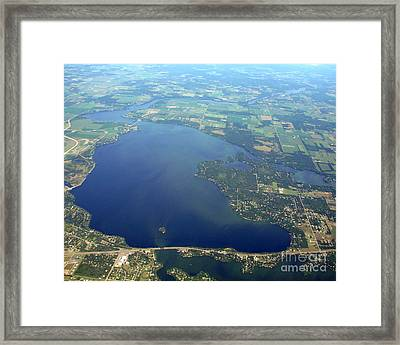 W-032 Wissota Lake Eau Claire County Wisconsin Framed Print by Bill Lang