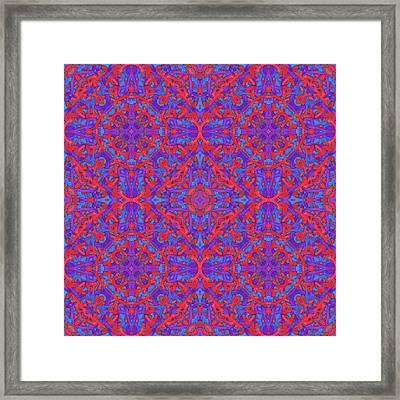 W E D - Multi Pattern Framed Print