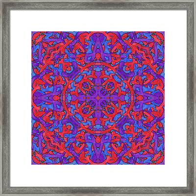 W E D - Pattern Framed Print