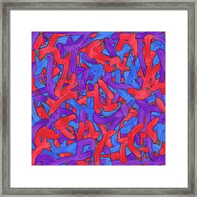 W E D - Soup Framed Print