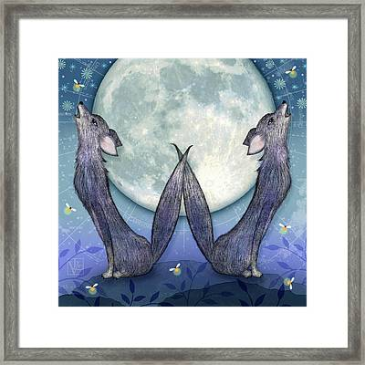 W Is For Wolves Framed Print