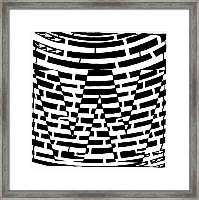W Maze Framed Print by Yonatan Frimer Maze Artist