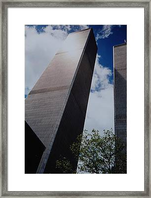 W T C 1 And 2 Framed Print by Rob Hans