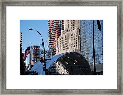W T C Path Station Framed Print by Rob Hans