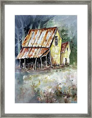 Waaaaay Out In The Woods Framed Print by Tim Ross