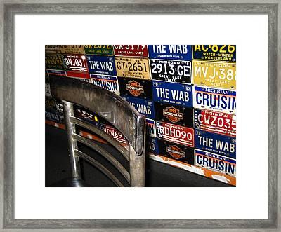 Wab Plates Framed Print