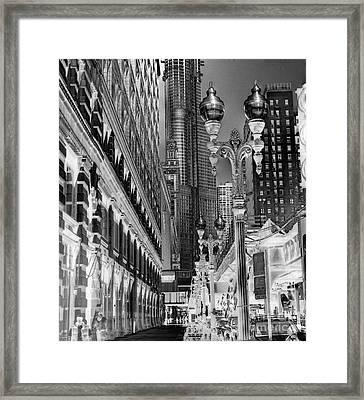 Wabash Avenue Framed Print