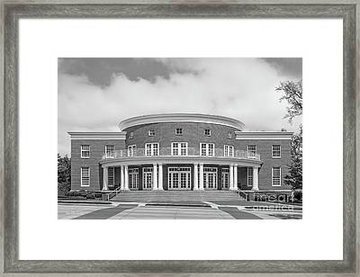 Wabash College Trippet Hall Framed Print by University Icons