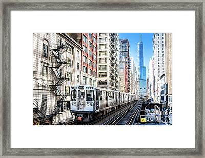 The Wabash L Train Framed Print