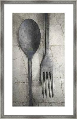 Wabi Sabi Utensils Framed Print