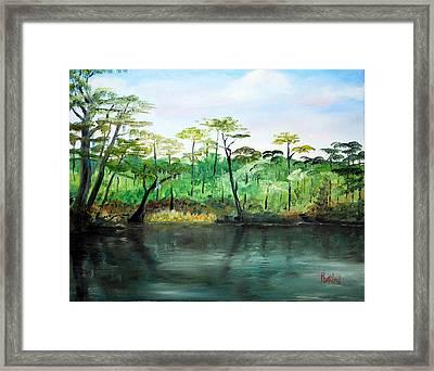 Waccamaw River - Impressionist Framed Print by Phil Burton