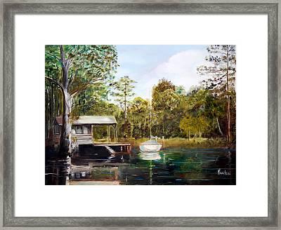Waccamaw River Sloop Framed Print by Phil Burton