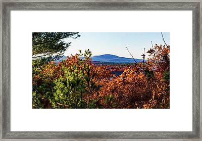 Wachusett In Fall Framed Print