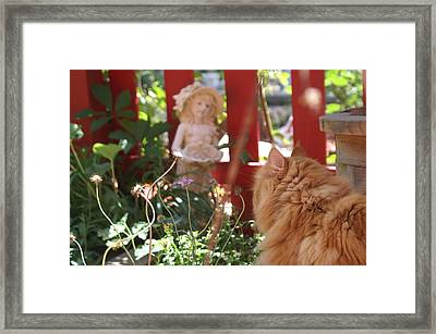 Wackie Love's The Garden  Framed Print by Susan Perry