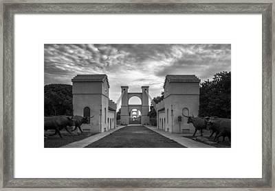 Waco Historical Suspension Bridge Framed Print