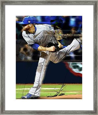Wade Davis, Painting Game 5 World Series 2015 Champions Kansas City Royals Framed Print