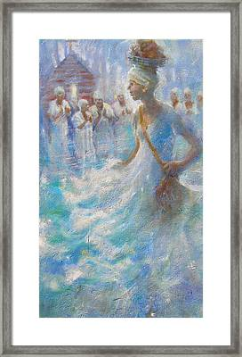 Framed Print featuring the painting Wade In The Water by Gertrude Palmer