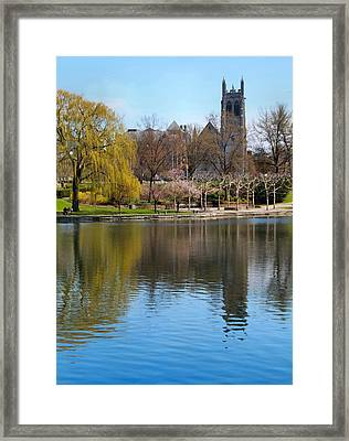 Wade Park District In Spring Framed Print by Dan Sproul