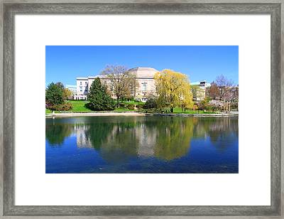Wade Park Lagoon Cleveland Ohio Framed Print by Dan Sproul