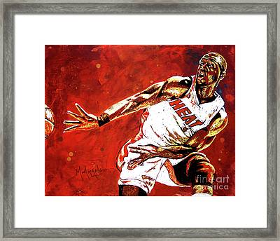 Wade Passes Framed Print by Maria Arango