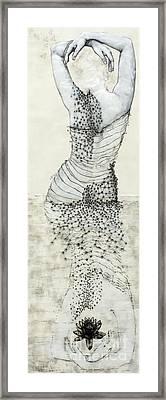 Wader With Lotus Flower Framed Print