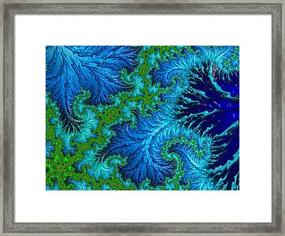 Fractal Art - Wading In The Deep Framed Print by HH Photography of Florida