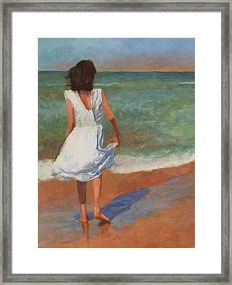 Wading Framed Print by Robert Bissett