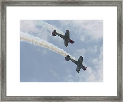 Wafb 09 Yak 52 Aerostar 7 Framed Print by David Dunham