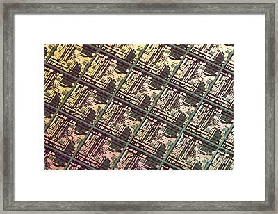 Wafer At Intel Labs Framed Print by Massimo Brega The Lighthouse