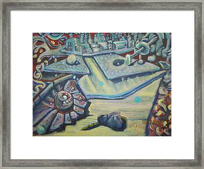 Framed Print featuring the painting Waferizm Revisited by Steven Holder