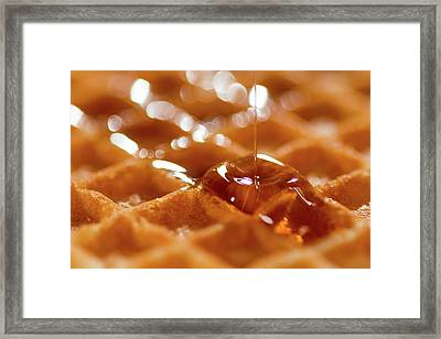 Waffles Framed Print by Happy Home Artistry