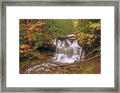 Wagner Falls Framed Print by Michael Peychich