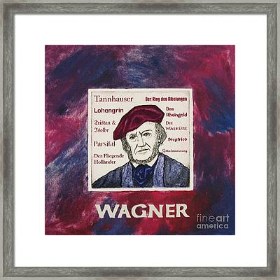Wagner Portrait Framed Print by Paul Helm