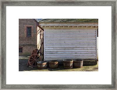 Wagon And Barrels Framed Print by Teresa Mucha