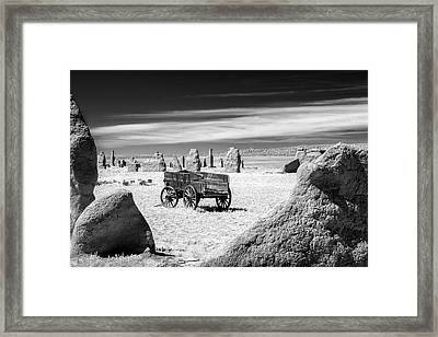 Wagon At Fort Union Framed Print by James Barber