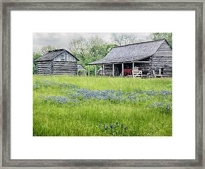 Wagon Barn Framed Print