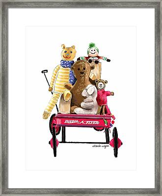 Wagon Full Of Toys Framed Print by Arline Wagner