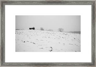 Wagon Hill Framed Print by Edward Myers