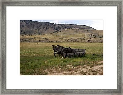Wagon Ho Framed Print by Marty Koch