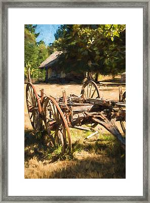 The Old Wagon Framed Print by Marilyn Wilson