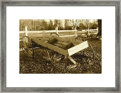 Wagon Framed Print by Paula Deutz