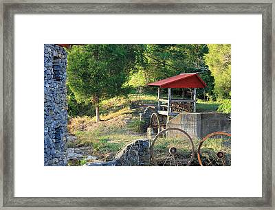 Wagon Shed Framed Print by Suzanne Gaff