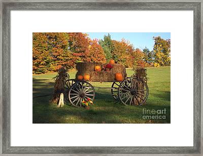 Wagon Sunny Fall Day Framed Print