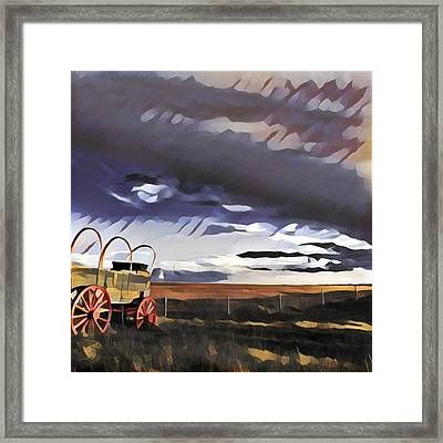 Wagon Train Framed Print