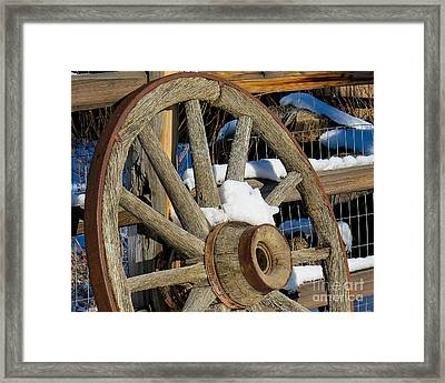 Wagon Wheel 1 Framed Print