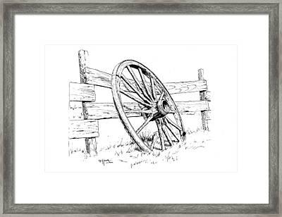 Wagon Wheel Framed Print by Bob Hallmark