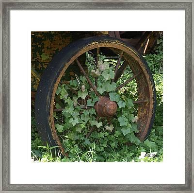 Wagon Wheel Framed Print by Dennis Stein