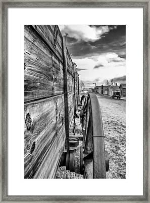 Wagon Wheel Framed Print by Dennis Wagner